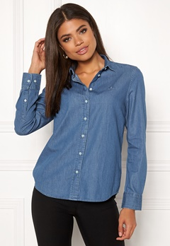 GANT Luxury Chambray Shirt 999 LT Indigo Bubbleroom.fi
