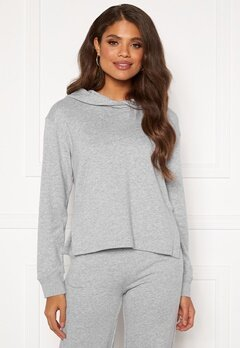 GANT PP Hoodie Sweat 94 Light Grey Melang Bubbleroom.fi