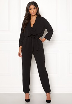 Jacqueline de Yong Geggo Treats 3/4 Jumpsuit Black Bubbleroom.fi