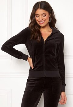 Juicy Couture Gems Crest Velour Robertson Jacket Pitch Black Bubbleroom.fi