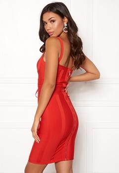 Girl In Mind Arabella Bodycon Dress Red Bubbleroom.fi