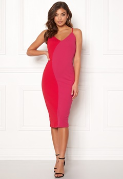 Girl In Mind Bala Contrast Cami Dress Red/Pink Bubbleroom.fi