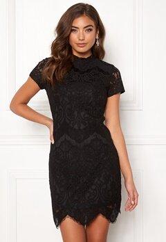 Girl In Mind Emilia Lace Mini Dress Black Bubbleroom.fi