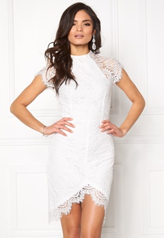 Girl In Mind Francis Lace Dress White Bubbleroom.fi