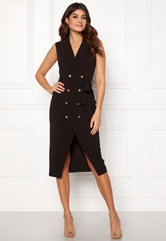 Girl In Mind Grace Blazer Midi Dress Blk Bubbleroom.fi