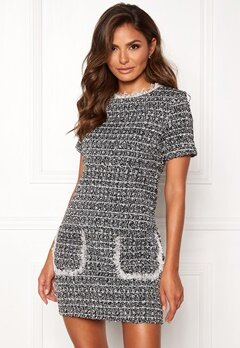 Girl In Mind Hallie Tweed Shift Dress Blk Bubbleroom.fi