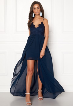 Girl In Mind Maddie Lace Maxi Dress Navy Bubbleroom.fi