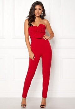 Girl In Mind Maisie Jumpsuit Red Bubbleroom.fi