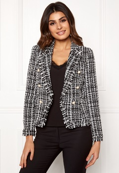 Girl In Mind Orla Tweed Blazer Blk/White Bubbleroom.fi