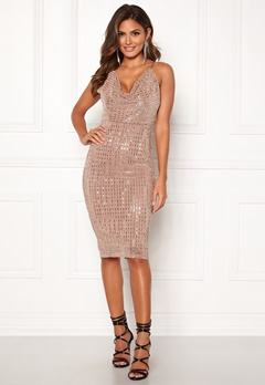 Girl In Mind Sam Sequin Mini Dress Nude Bubbleroom.fi