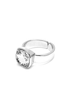 BY JOLIMA Glam Crystal Ring Crystal Silver Bubbleroom.fi