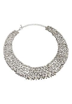Love Rocks Glamour Crystal Collar Silver colour Bubbleroom.fi