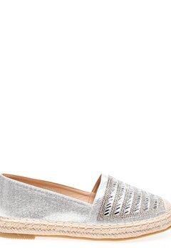 Glossy Espadrillos, Lexie Silver Bubbleroom.fi