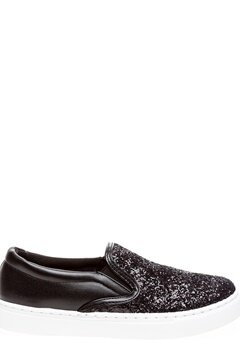 Glossy Slip-On Sneakers, Lotta Svart Bubbleroom.fi