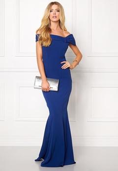 Goddiva Bardot Fishtail Maxi Dres Royal Blue Bubbleroom.fi