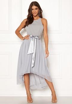Goddiva Chiffon High Low Dress Grey Bubbleroom.fi