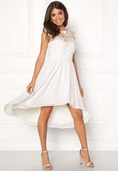 Goddiva Chiffon High Low Dress White Bubbleroom.fi