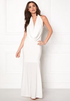 Goddiva Cowl Neck Maxi Dresss White Bubbleroom.fi