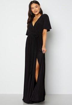 Goddiva Flutter Sleeve Maxi Dress Black bubbleroom.fi