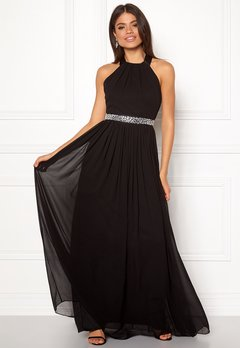 Goddiva Halterneck Chiffon Dress black Bubbleroom.fi