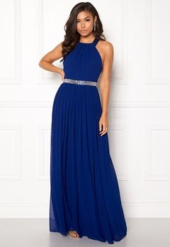 Goddiva Halterneck Chiffon Maxi Dress Royal Bubbleroom.fi