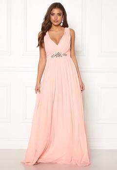 Goddiva Jewelled Maxi Dress Soft Pink Bubbleroom.fi