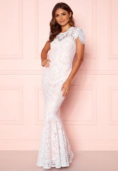 Goddiva Lace Wedding Dress White Bubbleroom.fi