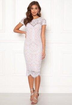 Goddiva Lisa lace dress White / Beige Bubbleroom.fi