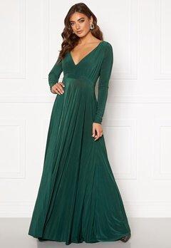 Goddiva Long Sleeve Oscar Dress Botanical Green Bubbleroom.fi