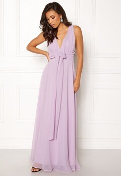 Goddiva Multi Tie Chiffon Dress Iris Bubbleroom.fi