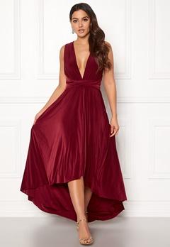 Goddiva Multi Tie High Low Dress Berry Bubbleroom.fi
