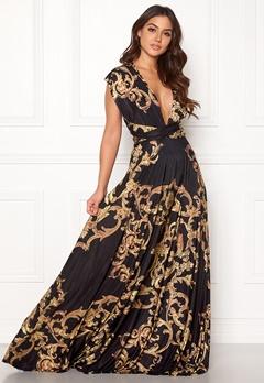Goddiva Multi Tie Maxi Dress Baroque Print Bubbleroom.fi