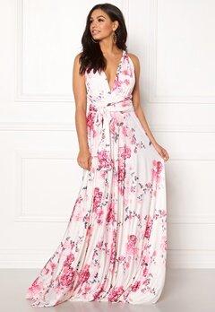 Goddiva Multi Tie Maxi Dress Floral Print Bubbleroom.fi