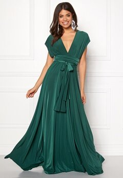Goddiva Multi Tie Maxi Dress Green Bubbleroom.fi