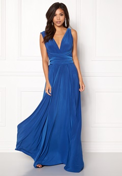 Goddiva Multi Tie Maxi Dress Royal Bubbleroom.fi