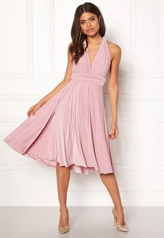 Goddiva Multi Tie Midi Dress Dusty Pink Bubbleroom.fi