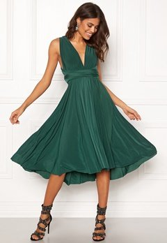 Goddiva Multi Tie Midi Dress Green Bubbleroom.fi
