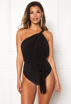 Goddiva Multi Tie Swimsuit Black Bubbleroom.fi