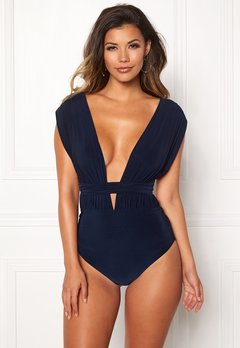 Goddiva Multi Tie Swimsuit Navy Bubbleroom.fi