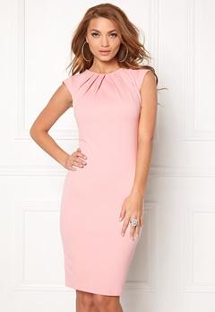 Goddiva Pleated Neckline Dress Pink Bubbleroom.fi