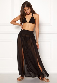 Goddiva Resort Kendra Split Maxi Skirt Black Bubbleroom.fi