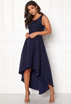 Goddiva Sleeveless High Low Dress Navy Bubbleroom.fi