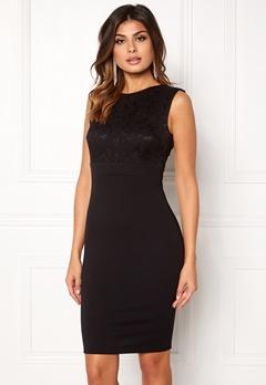 Goddiva Sleeveless Lace Dress Black Bubbleroom.fi