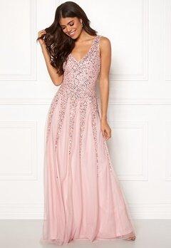 Goddiva Sunray Sequin Maxi Dress Blush Bubbleroom.fi