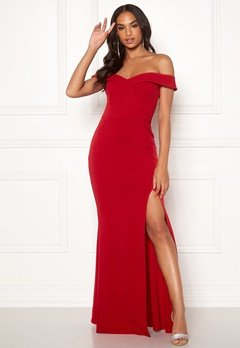 Goddiva Sweetheart Maxi Dress Red Bubbleroom.fi