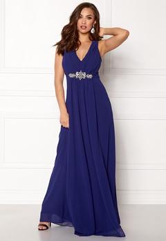 Goddiva V Neck Embellished Dress Royal Bubbleroom.fi