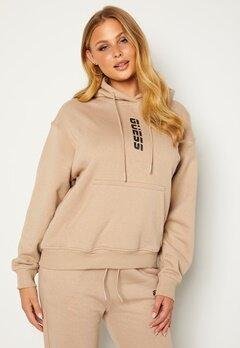 Guess Alisha Hooded Sweatshirt Gold Beige bubbleroom.fi