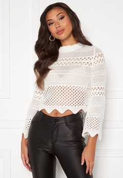 Guess Annie RN LS Sweater TWHT True White A000 Bubbleroom.fi