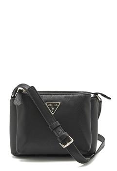 Guess Becca Double Zip Bag Black Bubbleroom.fi