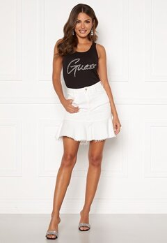 Guess Bloom Skirt JUWH Jungle White Bubbleroom.fi